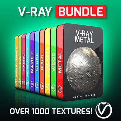 10套1000多个C4D V-Ray材质纹理包