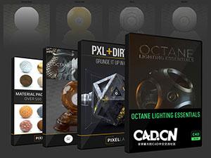 C4D Octane材质预设 Octane Texture Pack Pro