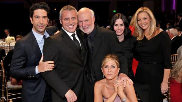 David Schwimmer, Matt LeBlanc, James Burrows, Jennifer Aniston, Courteney Cox, and Lisa Kudrow,