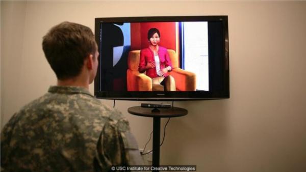 虚拟治疗师可以通过分析病人的肢体语言和声调诊断是否患有抑郁症或创伤后应激障碍。