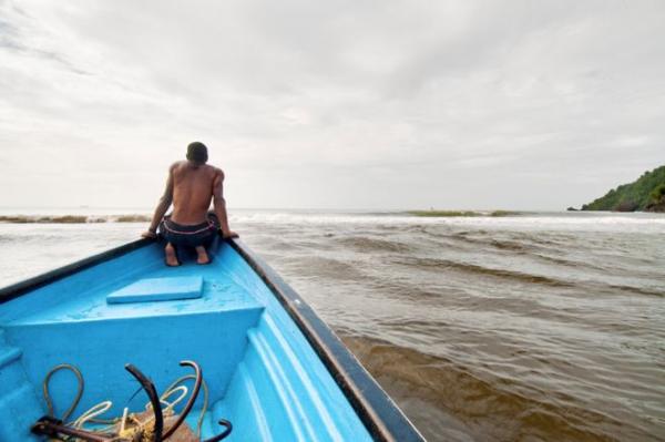 Fisherman on the island of Trinidad