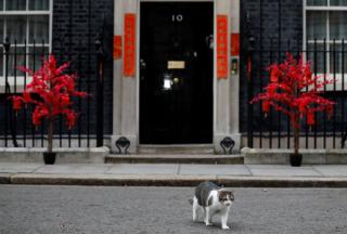 英国首相府迎春节 唐宁街10号贴春联