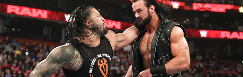 《WWE RAW 2019.03.26》赛事:德鲁阴招袭击罗曼!