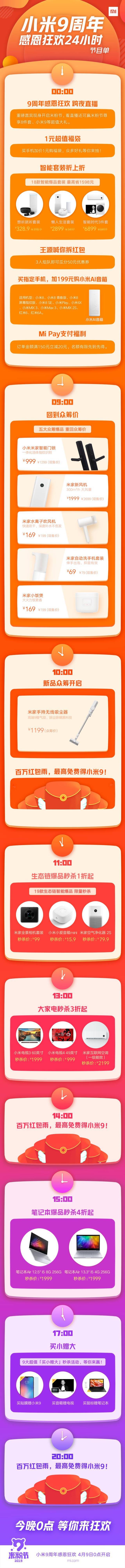 小米9周年米粉节将在今晚0点正式开启:超多福利预备来袭-玩懂手机网 - 玩懂手机第一手的手机资讯网(www.wdshouji.com)