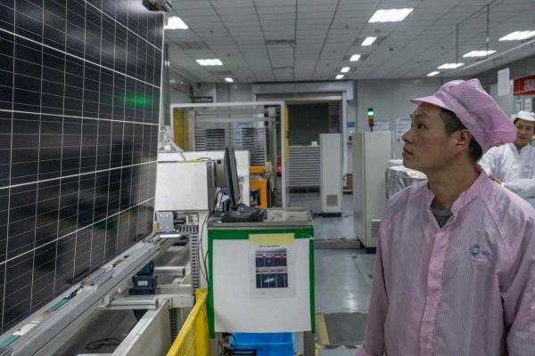 中国企业在太阳能电池板行业起着关键作用。