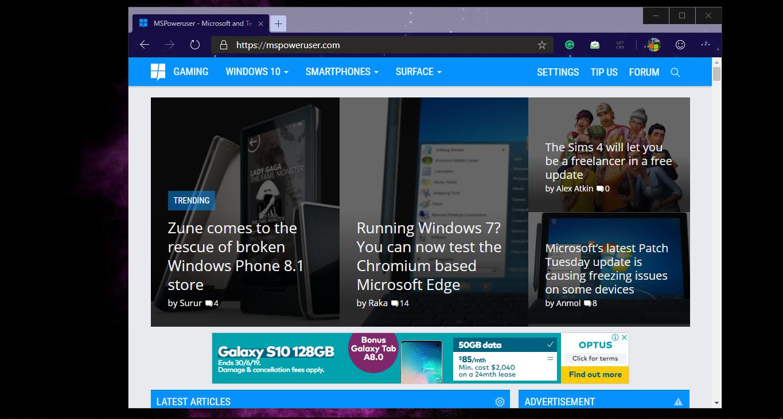 在微软新版Edge浏览器上安装和卸载Chrome主题-玩懂手机网 - 玩懂手机第一手的手机资讯网(www.wdshouji.com)