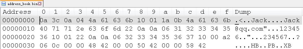 address_book bin file