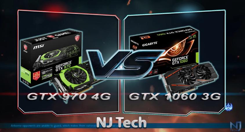 GTX 970 对比GTX 1060 3GB