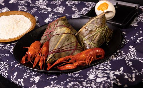 看得见的龙虾肉:昊聚德 小龙虾粽子 6只840g 礼盒装
