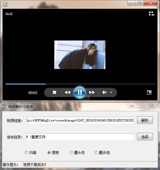 抖音微视趣头条小视频无水印解析下载