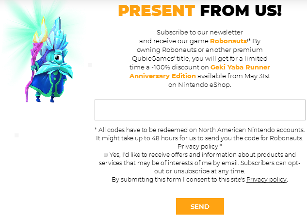 eShop 喜加一《Robonauts(机器人冒险家)》免费领取