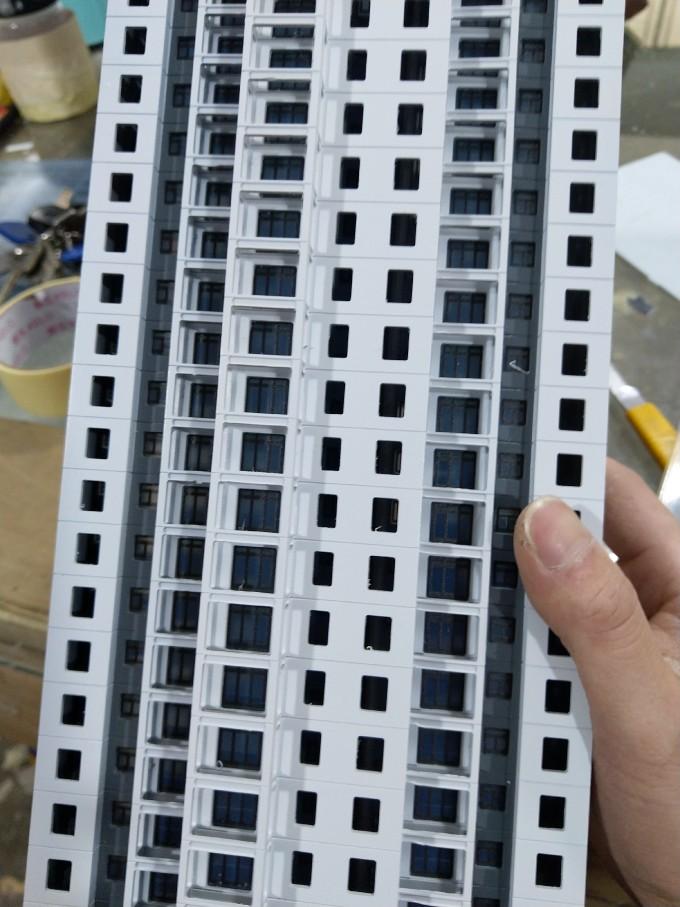 【艺雅】分色喷漆装窗线…南宁建筑模型制作