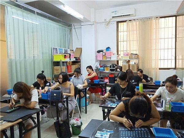 广州美甲培训学校-美甲培训学校实拍
