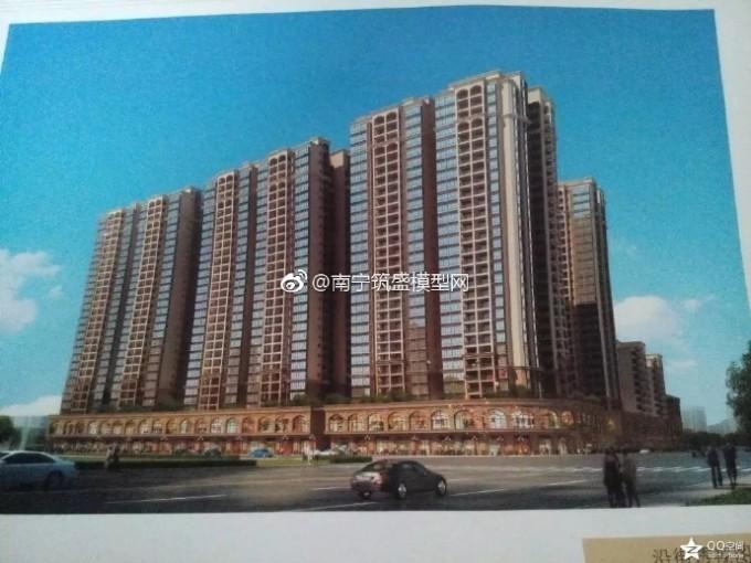 【建雅】广西钦州市灵山县山水荔城建筑模型国纸