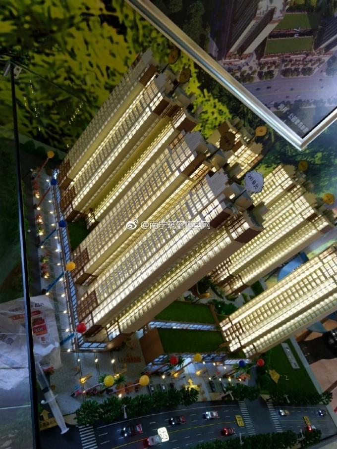 【盛悦模型】广西贵港市润月●公园里建筑模型沙盘安装