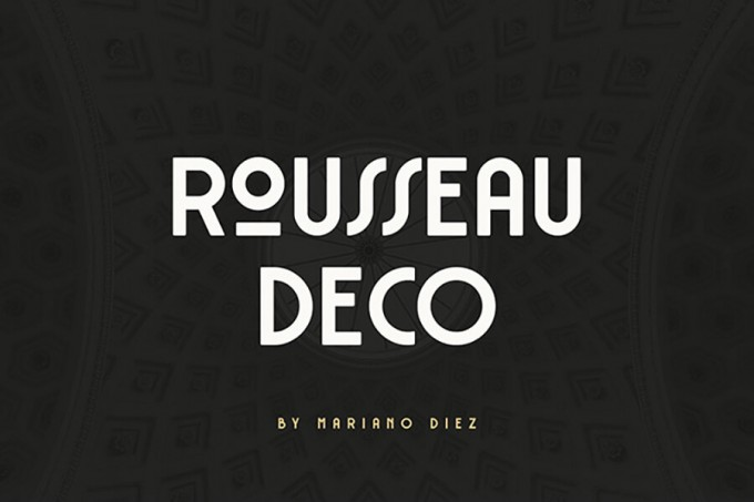 装饰艺术字体Rousseau Art Deco