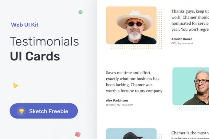 客户反馈UI Cards