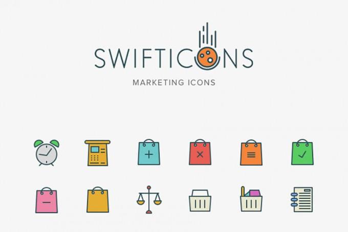 营销图标Marketing Swifticons Set