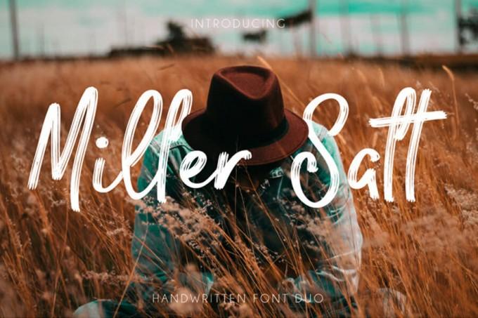 两款出色的自由野性字体Miller Salt