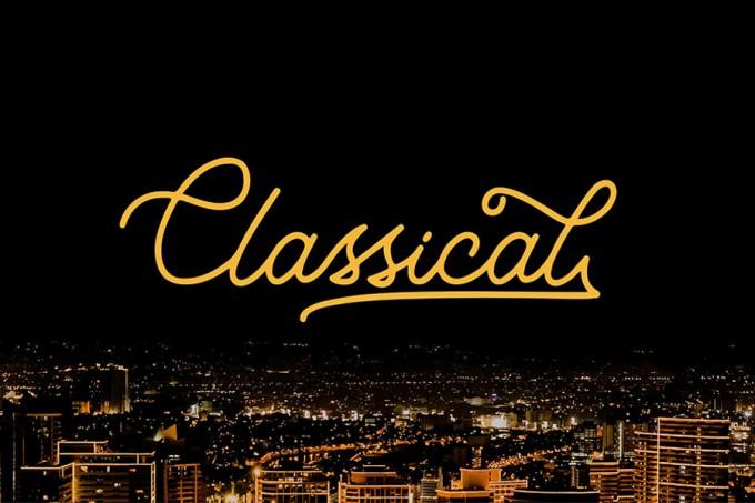 经典单线字体Classical Monoline