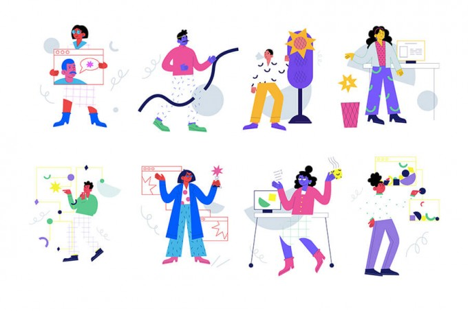 简约商务创意色彩场景网站插图