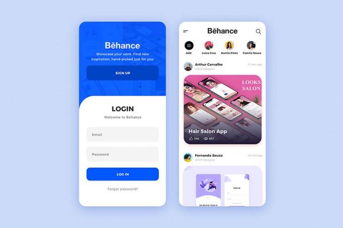 Behance app ui redesign .xd素材