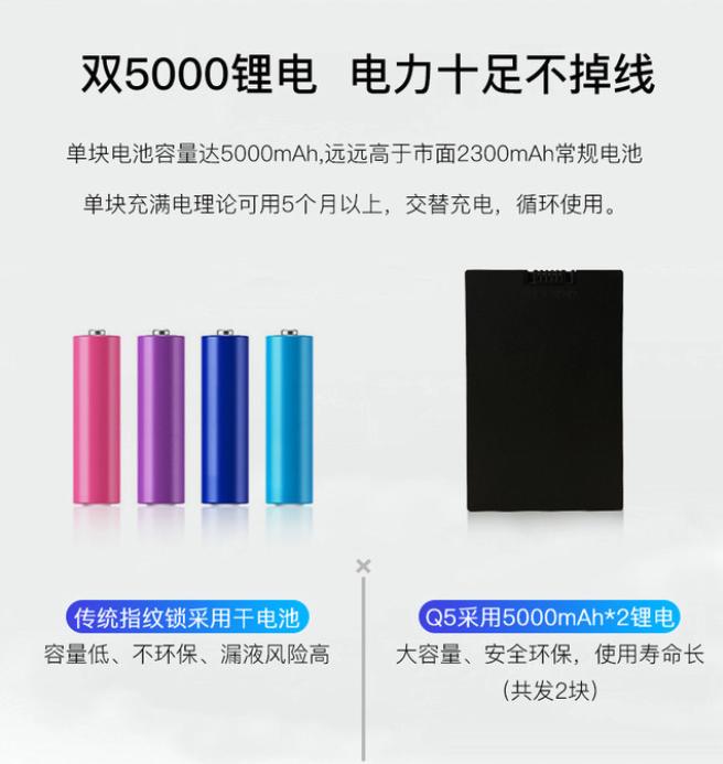 5000毫安可充电电池