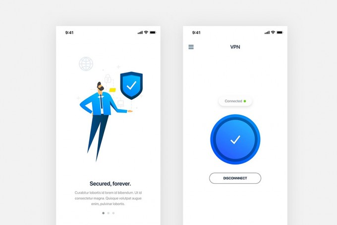 VPN免费手机UI界面