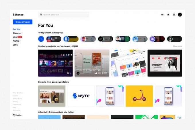 Behance web Redesign