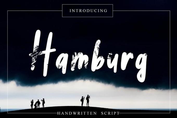 Hamburg笔刷感字体