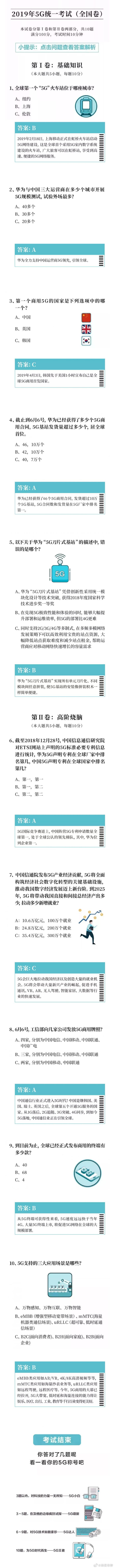 """2019年度5G考试题""""全国卷""""现身,看看你了解多少-玩懂手机网 - 玩懂手机第一手的手机资讯网(www.wdshouji.com)"""