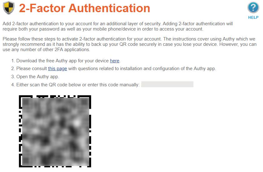 绑定Authy,开启两步验证页面
