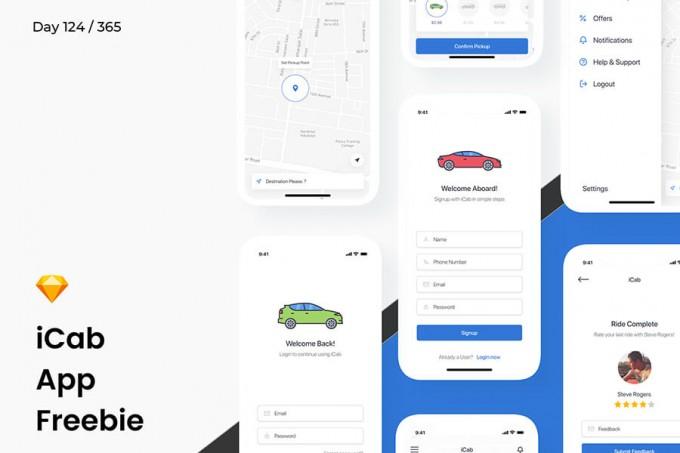 iCab 打车app ui