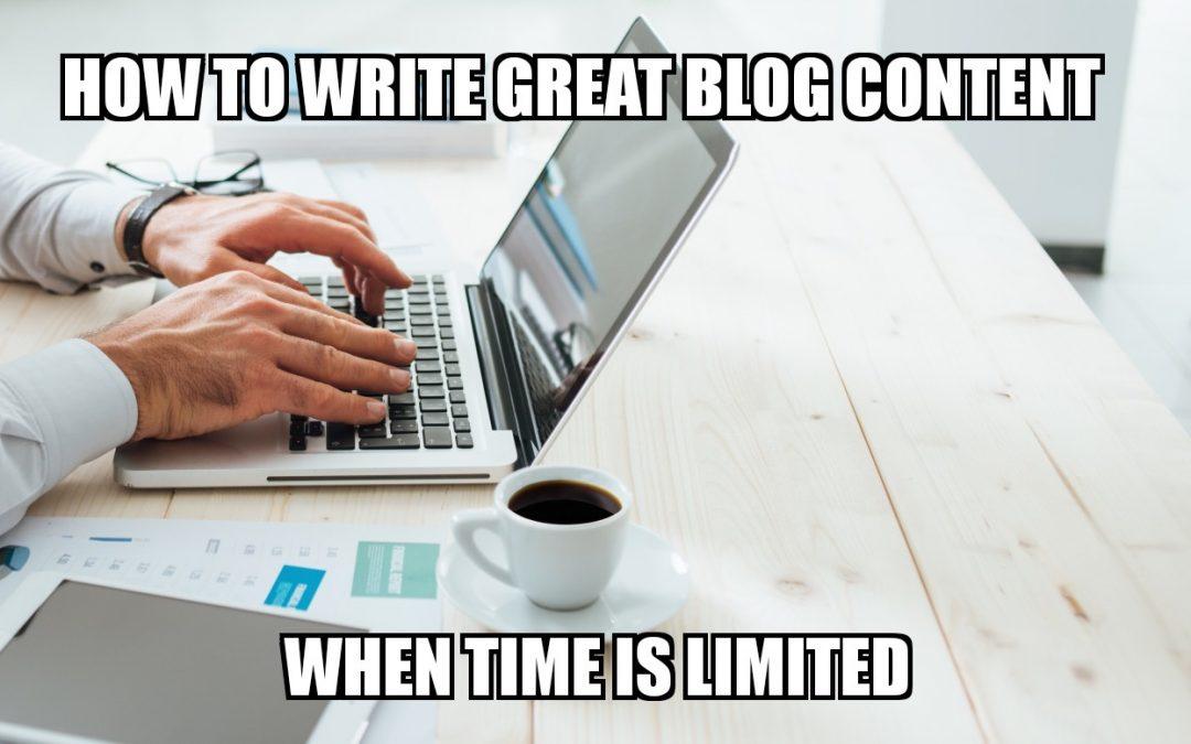 如何在有限时间下写出色的博客文章