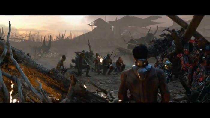 《复仇者联盟4》再曝光删减片段:复联成员集体下跪致敬钢铁侠陨落