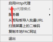 打开HTTP代理