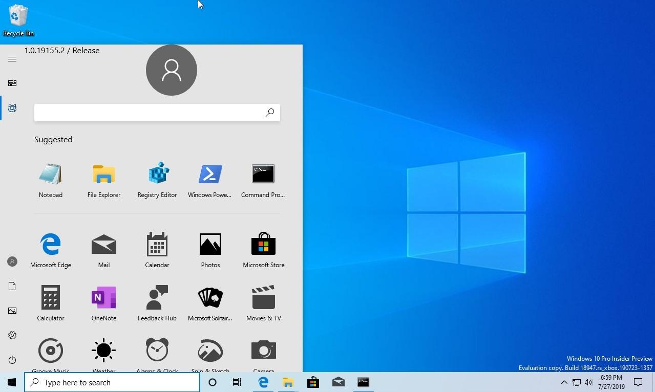 Windows 10内测版开始菜单上手:取消动态磁贴 支持Dark模式