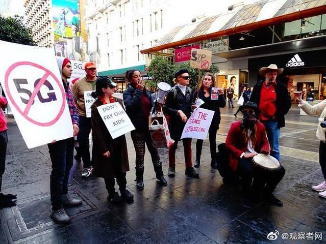 """澳大利亚多地出现 """"反 5G"""" 示威"""