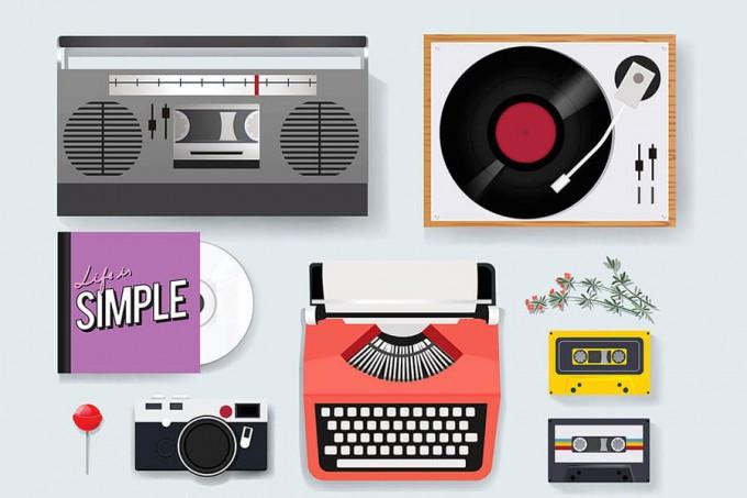 13枚音乐类插画元素