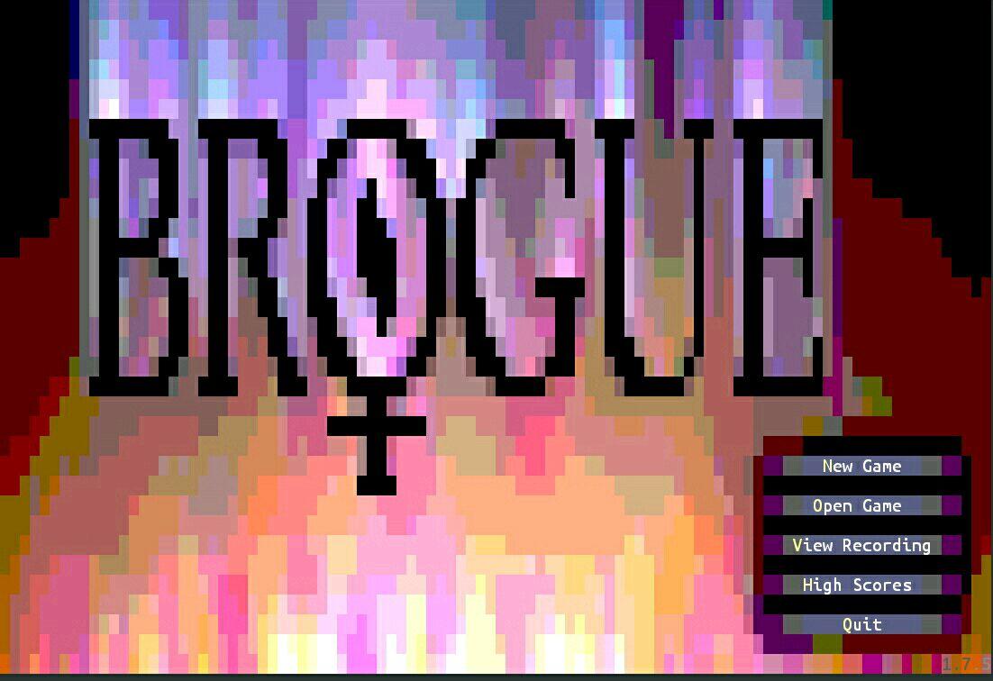 brogue启动界面