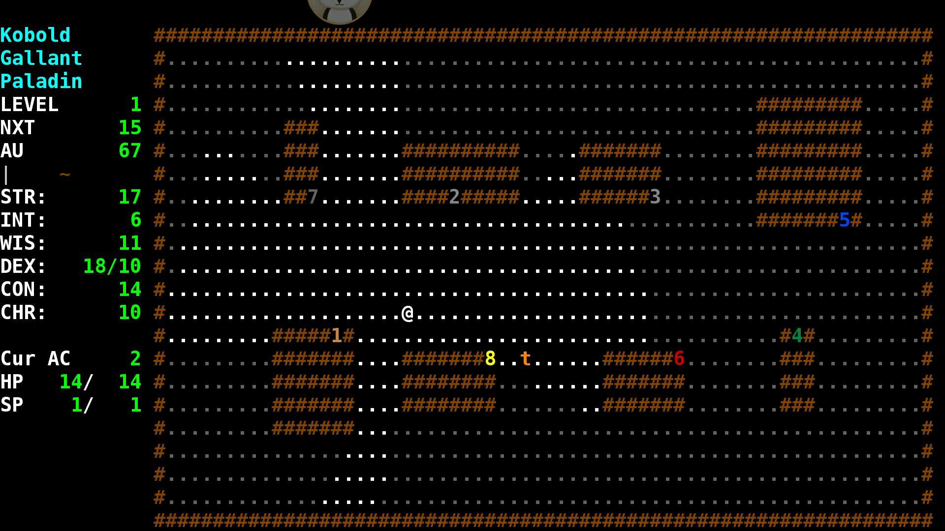 angband安卓版游戏界面