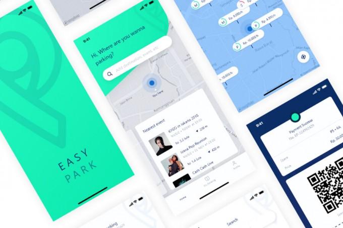 停车app Easy Park ui kit