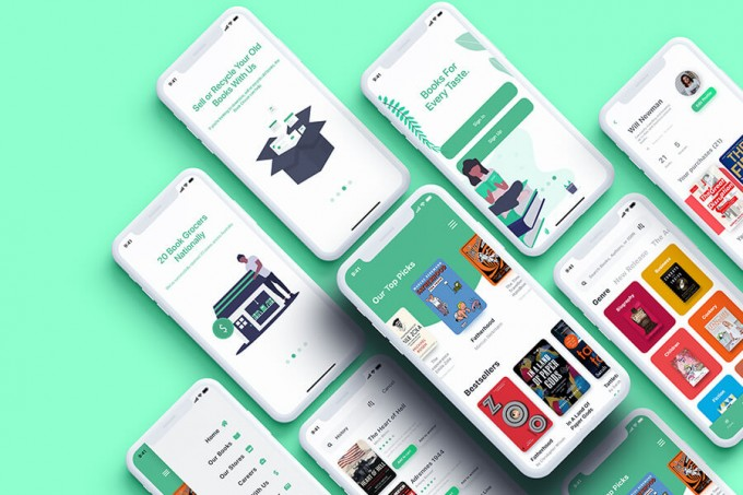 在线阅读Book Grocer UI Kit