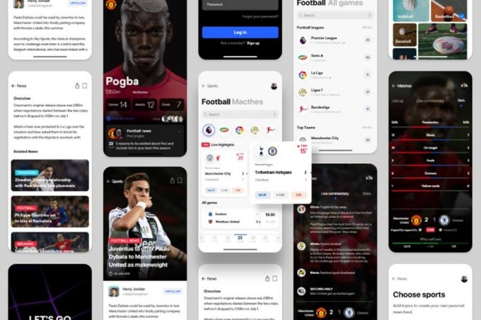 体育新闻app ui