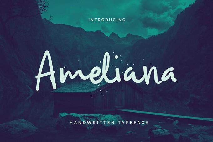 Ameliana手写感优雅字体
