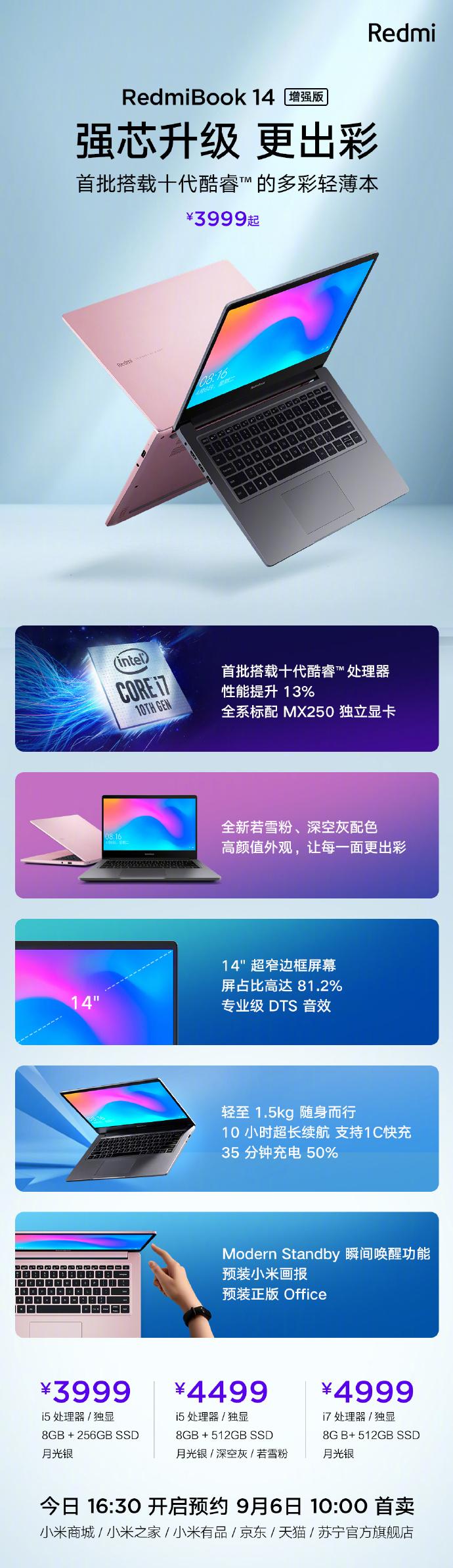 一图看懂RedmiBook 14增强版-玩懂手机网 - 玩懂手机第一手的手机资讯网(www.wdshouji.com)