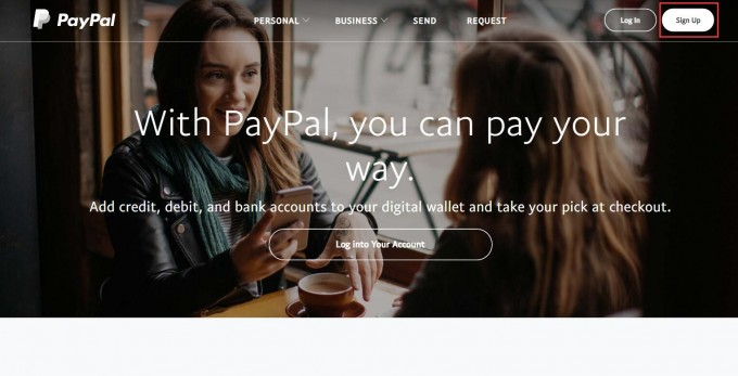 Paypal首页