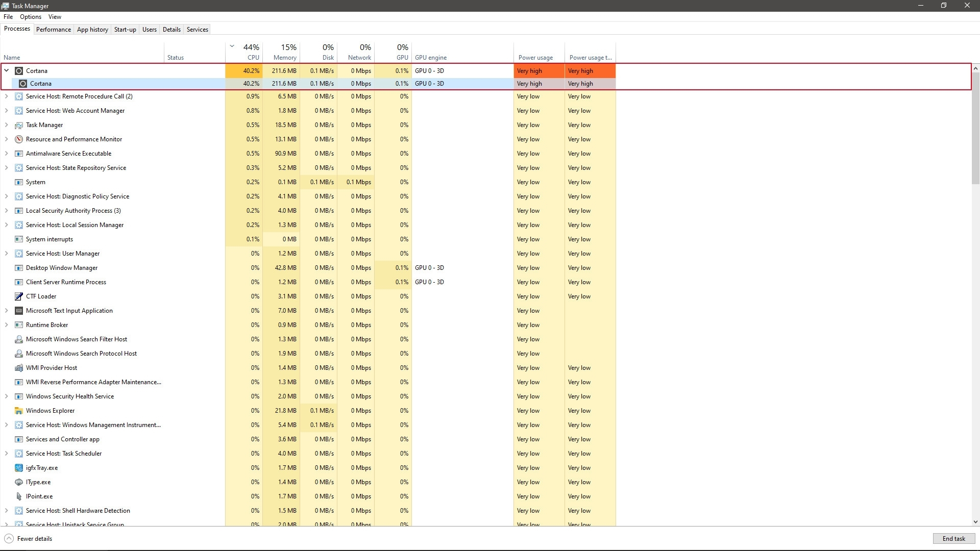 Windows 10新补丁致CPU占用率100%:修改注册表搞定