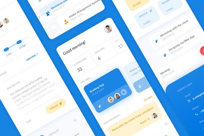 团队管理app ui .sketch素材
