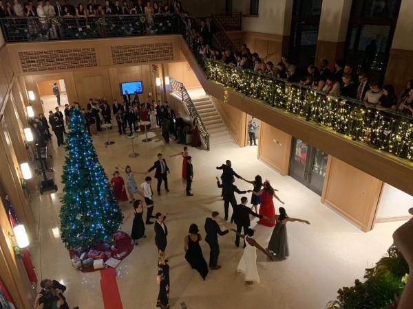 苏世民书院的圣诞晚会。